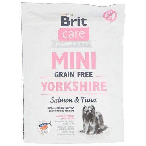 Сухой корм для собак Brit Care Йоркширский терьер, беззерновой, лосось, тунец 400г (для мелких пород)