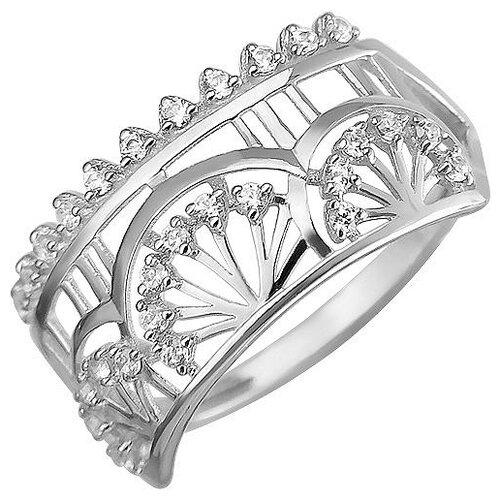Эстет Кольцо с 28 фианитами из серебра Н11К153016, размер 17 ЭСТЕТ