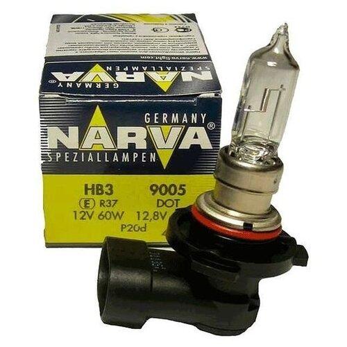 Лампа автомобильная галогенная Narva 48005 HB3/9005 12V 60W 1 шт. лампа osram hb3 60w 12v original line