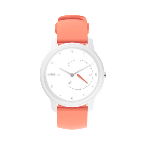Умные часы Withings Move Basic Essentials, white/coral