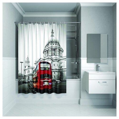 Фото - Штора для ванной IDDIS 542P18Ri11 180x200 London Spirits штора для ванной iddis 680p18ri11 180x200 зеленый черный