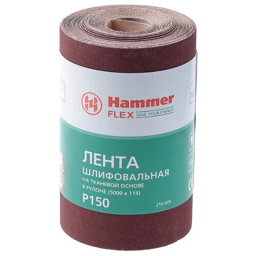Hammer 216-005 Лента шлифовальная в рулоне шкурка шлифовальная в рулоне hammer flex 216 005