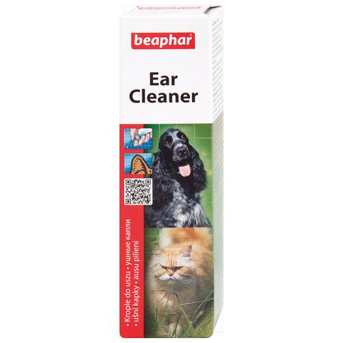 Капли Beaphar Ear-Cleaner для чистки ушей у кошек и собак 50 мл relaxivet relaxivet капли spot on успокоительные для кошек и собак 4 пипетки по 0 5 мл