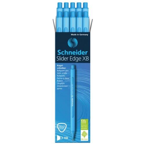 Купить Schneider Набор шариковых ручек Slider Edge XB, 0.7 мм 10 шт., голубой цвет чернил, Ручки