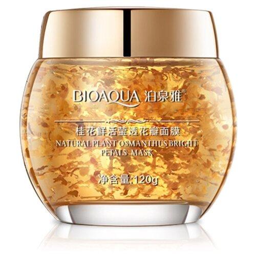BioAqua Ночная увлажняющая маска для лица с экстрактом цветков Золотого Османтуса, 120 мл увлажняющая маска bioaqua увлажняющая маска