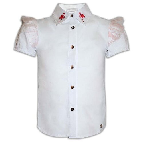цена Блузка De Salitto размер 122, белый онлайн в 2017 году