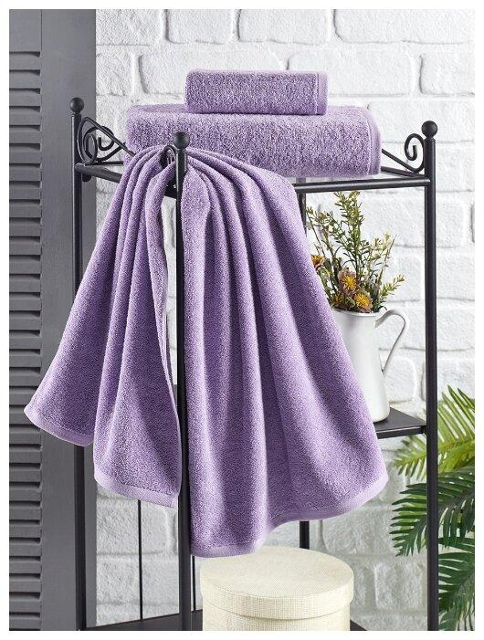 """Полотенце махровое """"Karna. Efor"""", 70х140 см, цвет сиреневый"""