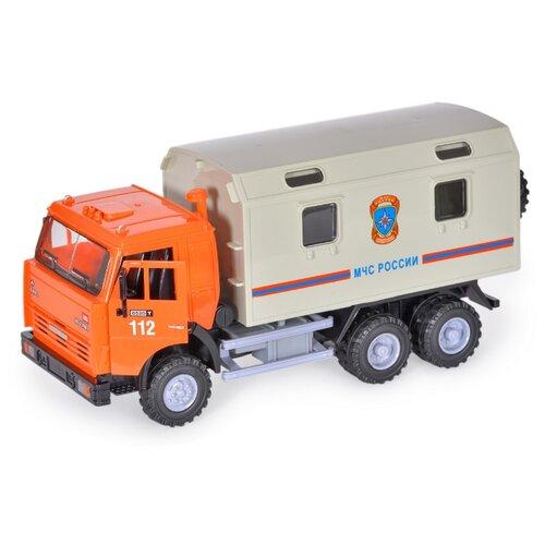 Купить Грузовик Joy Toy Автопарк 6520 МЧС (A532-H36007) 1:28 23 см оранжевый/серый, Машинки и техника
