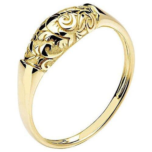 Эстет Кольцо коллекции Totem Fox/Лиса из жёлтого золота 01К0310168, размер 17 кольцо коллекции totem fox лиса из серебра