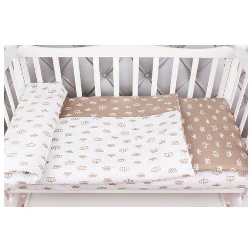 Фото - Amarobaby комплект в кроватку Baby Boom Короны (3 предмета) коричневый amarobaby комплект в кроватку baby boom короны 3 предмета серый