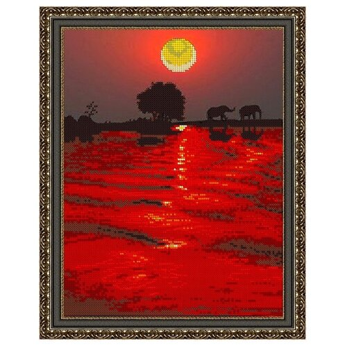 Светлица Набор для вышивания бисером Закат 24 х 30 см (413)