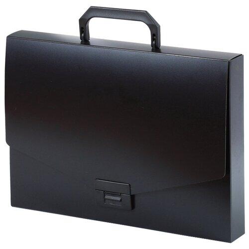 BRAUBERG Папка-портфель Energy А4, без отделений, пластик черный папка портфель без отделений а4 серебряная с черным клапаном