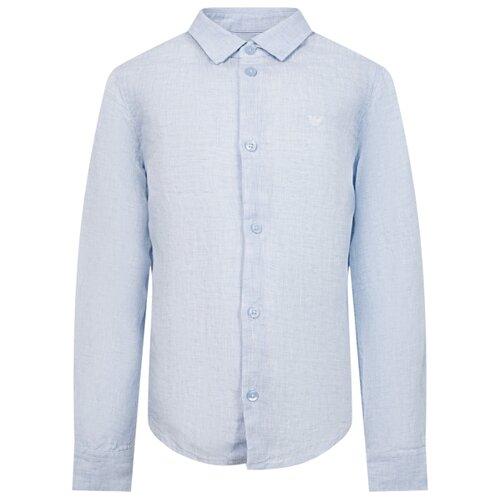 Рубашка EMPORIO ARMANI размер 128, голубой рубашка emporio armani размер 128 синий