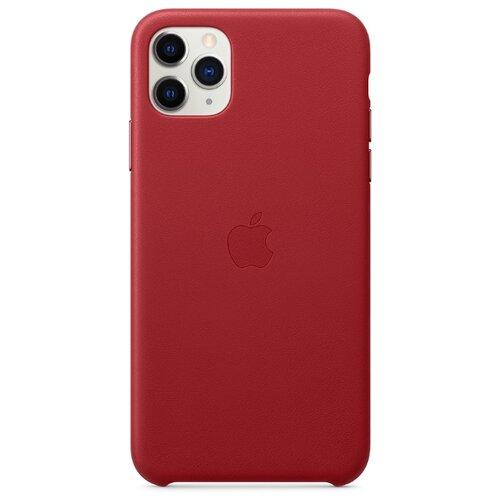 Чехол-накладка Apple кожаный для iPhone 11 Pro Max (PRODUCT)RED чехол apple silicone case для iphone 11 pro product red