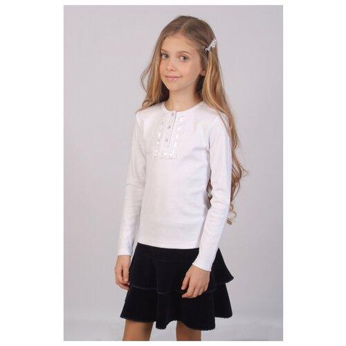 Купить Блузка Снег размер 122-128, белый, Рубашки и блузы