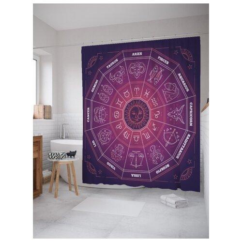 Штора для ванной JoyArty Знакомый зодиак 180х200 (sc-18710) разноцветный