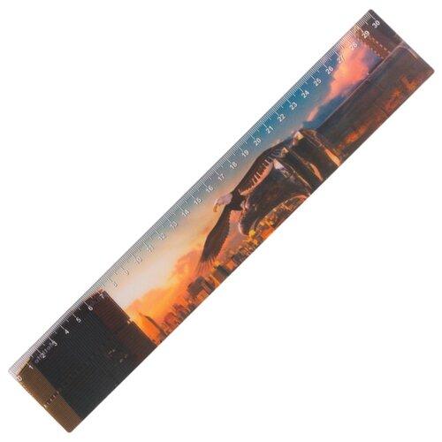 Купить BRAUBERG Линейка Орел 3D 30 см (210579) коричневый, Чертежные инструменты