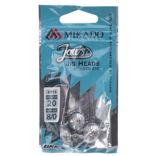 Джиг-головка MIKADO Jaws Stinger Eye Jig OMGJS №8/0 черный никель (3 шт.)