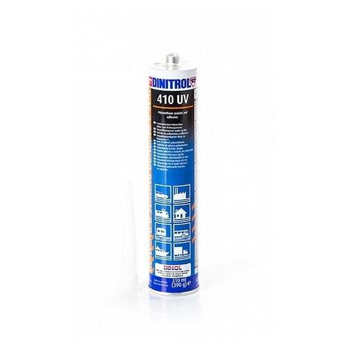 Универсальный полиуретановый клей-герметик для ремонта автомобиля DINITROL 410 UV, 300 мл белый