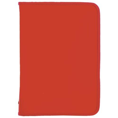 Купить Пифагор Папка для тетрадей А4 одноцветная на молнии красный, Файлы и папки