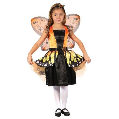 Купить Костюм Bristol Novelty Фея Бабочка (ПБ1585), черный/желтый, размер 134, Карнавальные костюмы