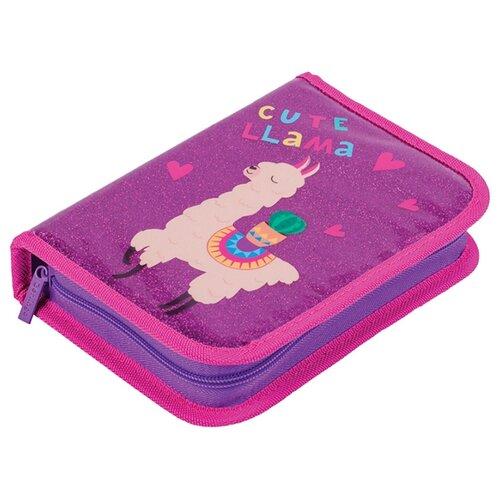 Купить Berlingo Пенал Cute Lama (PK05843) розовый, Пеналы