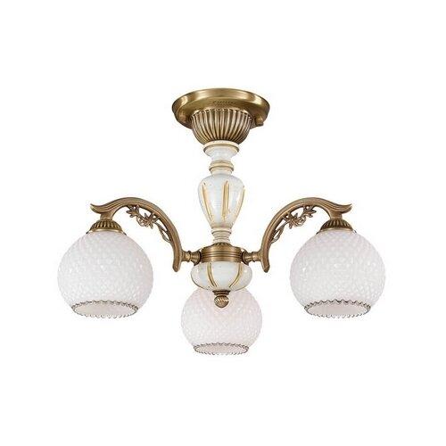 Фото - Люстра Reccagni Angelo 8625 PL 8625/3, E27, 180 Вт, кол-во ламп: 3 шт., цвет арматуры: бежевый, цвет плафона: белый люстра reccagni angelo pl 2720 3 180 вт