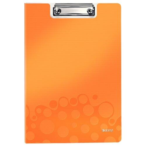 Leitz Папка-планшет с верхним прижимом WOW A4, полифом оранжевый