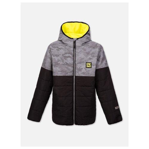 Купить Куртка playToday 120117721 размер 122, желтый/черный/серый, Куртки и пуховики