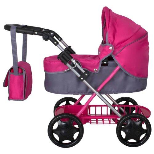 Купить Коляска-люлька Chicco Junior urban pram розовый/серый, Коляски для кукол