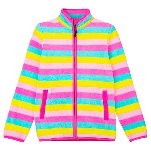 Купить Олимпийка playToday размер 98, розовый/желтый, Толстовки