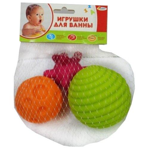 Купить Набор для ванной Играем вместе Массажные мячики (LX18BL-4) зеленый/розовый/оранжевый, Игрушки для ванной