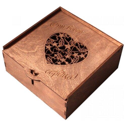 Коробка подарочная ArtandWood От всего сердца палисандр
