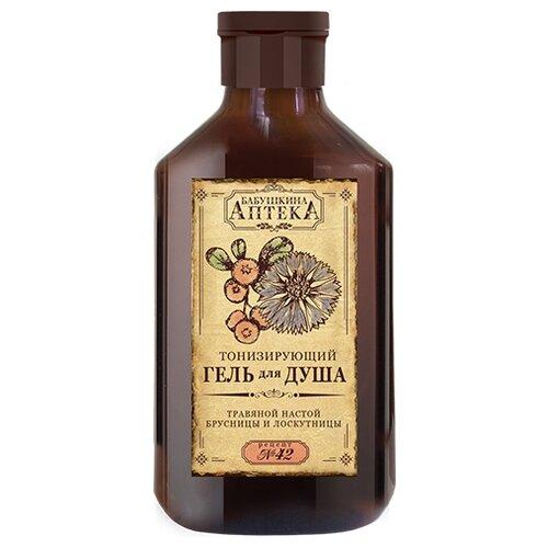 Гель для душа Бабушкина аптека Рецепт №42: травяной настой брусницы и лоскутницы, 350 мл
