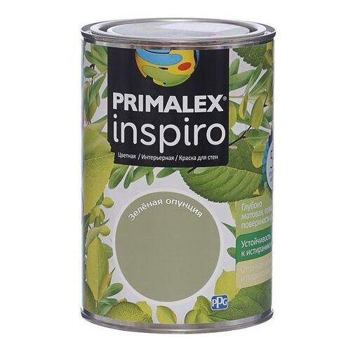 Краска PRIMALEX Inspiro моющаяся матовая зеленая опунция 1 л