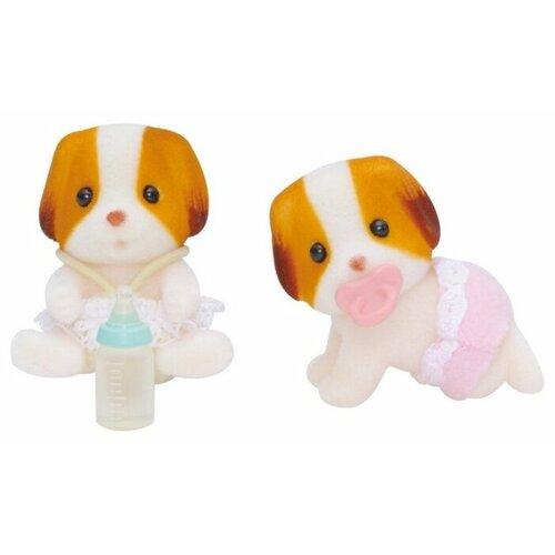 Купить Игровой набор Sylvanian Families Шифонские щенки-двойняшки 5083/3241, Игровые наборы и фигурки