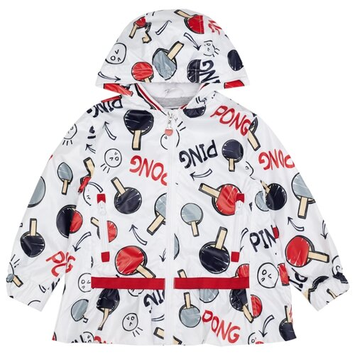 Купить Ветровка Gulliver 12003GMC4003 размер 128, белый, Куртки и пуховики