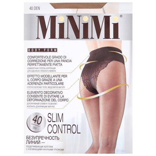 Колготки MiNiMi Slim Control 40 den, размер 1/2-S, caramello (бежевый) колготки minimi slim control 20 den размер 3 m caramello бежевый