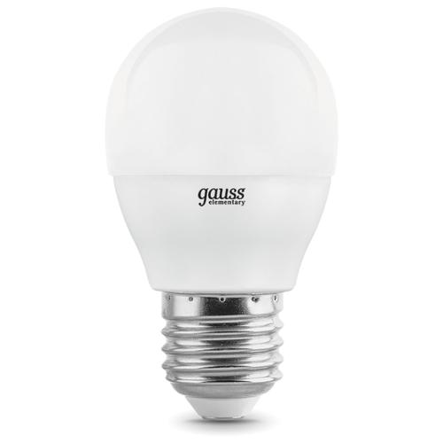 Лампа светодиодная gauss 53216, E27, G45, 6Вт лампа светодиодная gauss 105802205 d e27 g45 5вт