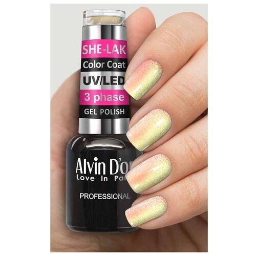 Фото - Гель-лак для ногтей Alvin D'or She-Lak Color Coat, 8 мл, оттенок 3511 гель лак для ногтей cosmoprofi color coat 15 мл оттенок 027