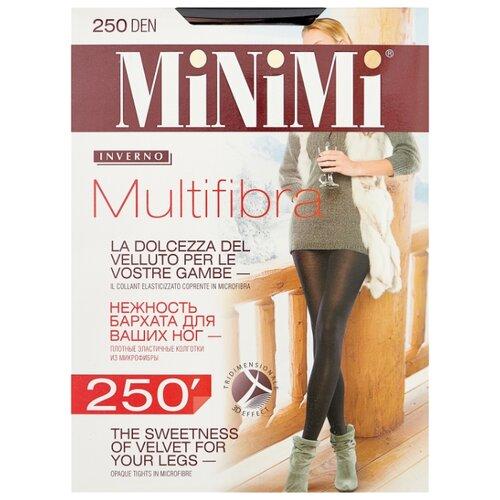 Колготки MiNiMi Multifibra, 250 den, размер 5-XL, nero (черный) колготки minimi calma 20 den размер 5 xl nero черный
