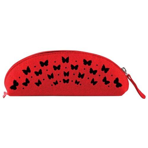 Феникс+ Пенал-косметичка Бабочки (43374/6) красный/черный феникс пенал косметичка бабочки 46253 фиолетовый