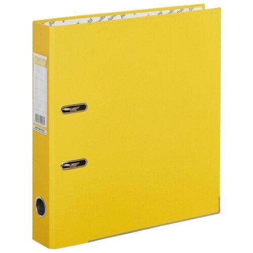 Купить Bantex Папка-регистратор Economy Plus A4, бумвинил, 50 мм желтый, Файлы и папки