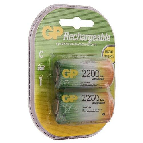 Купить Аккумулятор 2200 мА·ч GP Rechargeable 2200 Series C 2 шт блистер