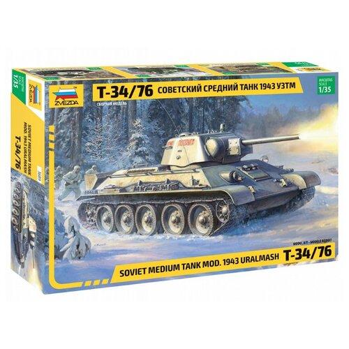 Сборная модель ZVEZDA Советский средний танк Т-34/76 1943 УЗТМ (3689) 1:35 сборная модель zvezda советский средний танк т 34 76 обр 1942 г 3535pn 1 35