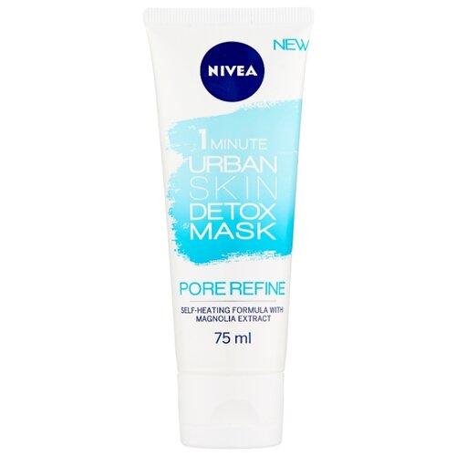 Nivea маска Urban Detox детокс и сужение пор за 1 минуту c экстрактом магнолии, 75 мл nivea маска увлажнение и детокс urban detox за 1 минуту 75 мл