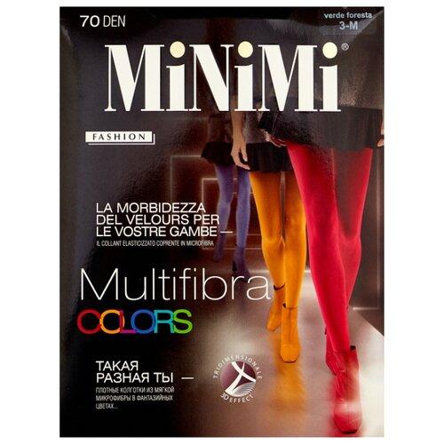 Колготки MiNiMi Multifibra Colors 70 den, размер 3-M, verde foresta (зеленый) колготки minimi multifibra colors 70 den размер 5 xl kaki зеленый