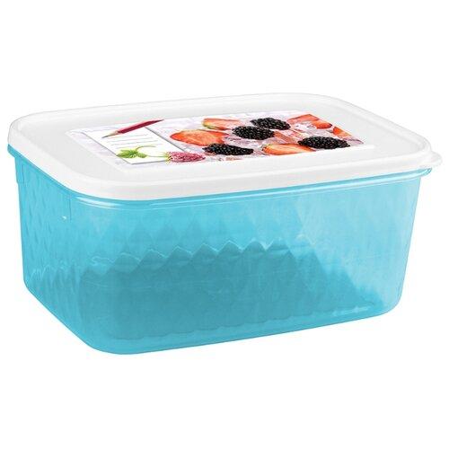 Phibo Контейнер Кристалл для хранения и замораживания продуктов с декором 1,3 л голубой/белый недорого