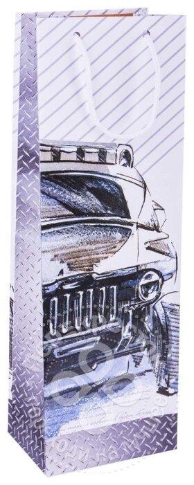 Пакет подарочный Арт & Дизайн под бутылку, 36х12х8,5