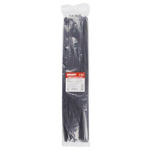 Стяжка кабельная (хомут стяжной) REXANT 07-0501 4.8 х 500 мм 100 шт. rexant хомут nylon 400 х 5 0 мм 100 шт белый профессиональный